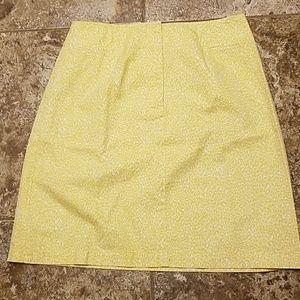Yellow cheetah print skirt